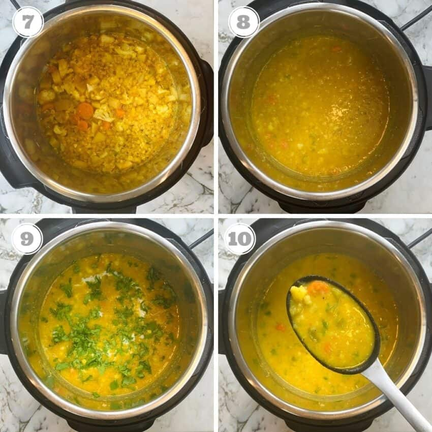 cooked soup in the Instant Pot