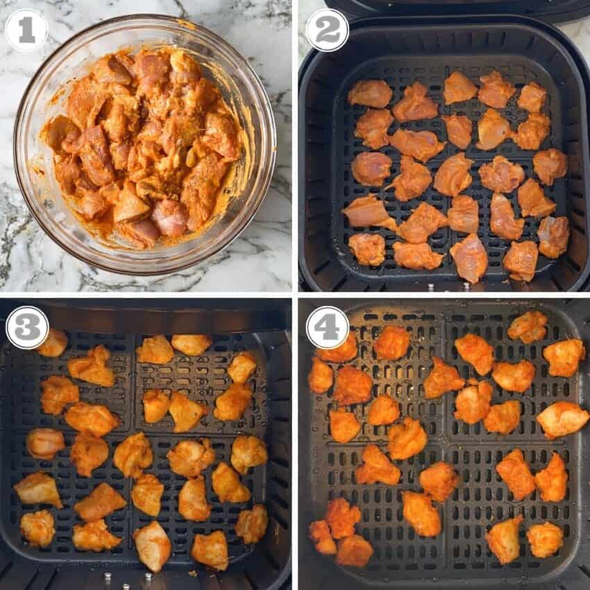 air frying marinated chicken