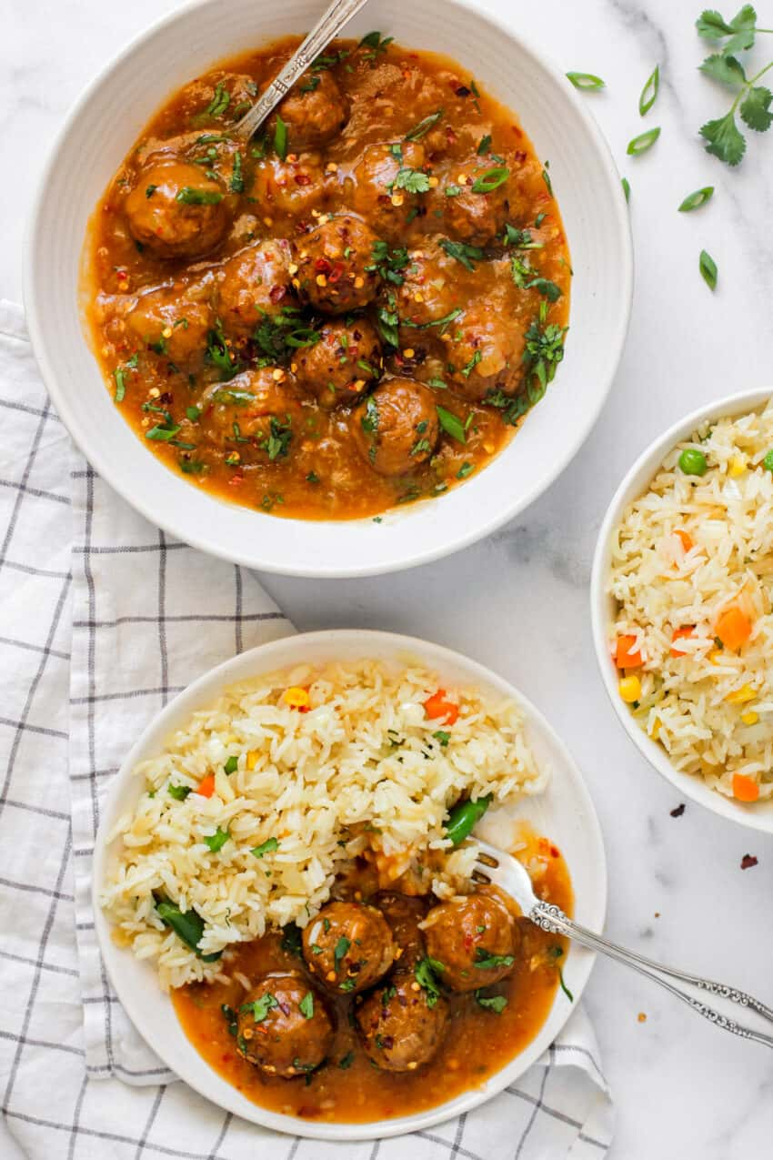 manchurian and fried rice