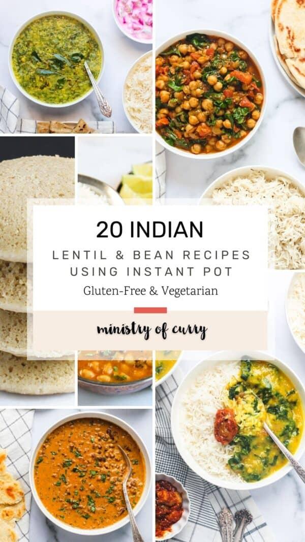 lentil and bean recipe collage