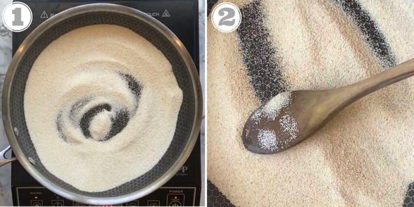 roasting rava