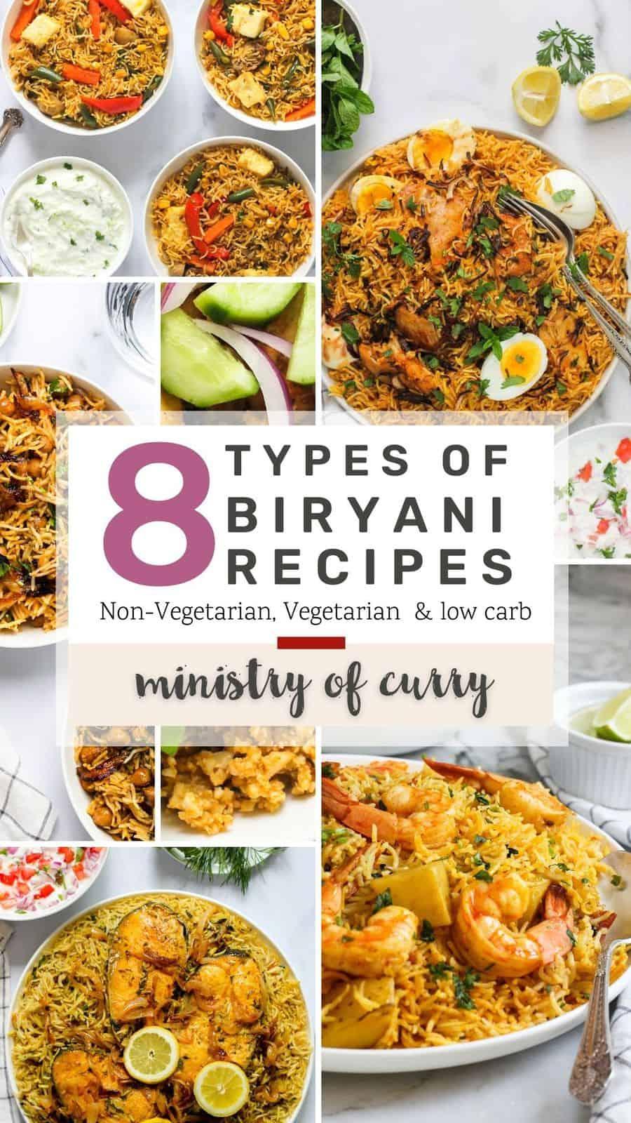 collage of biryani recipes