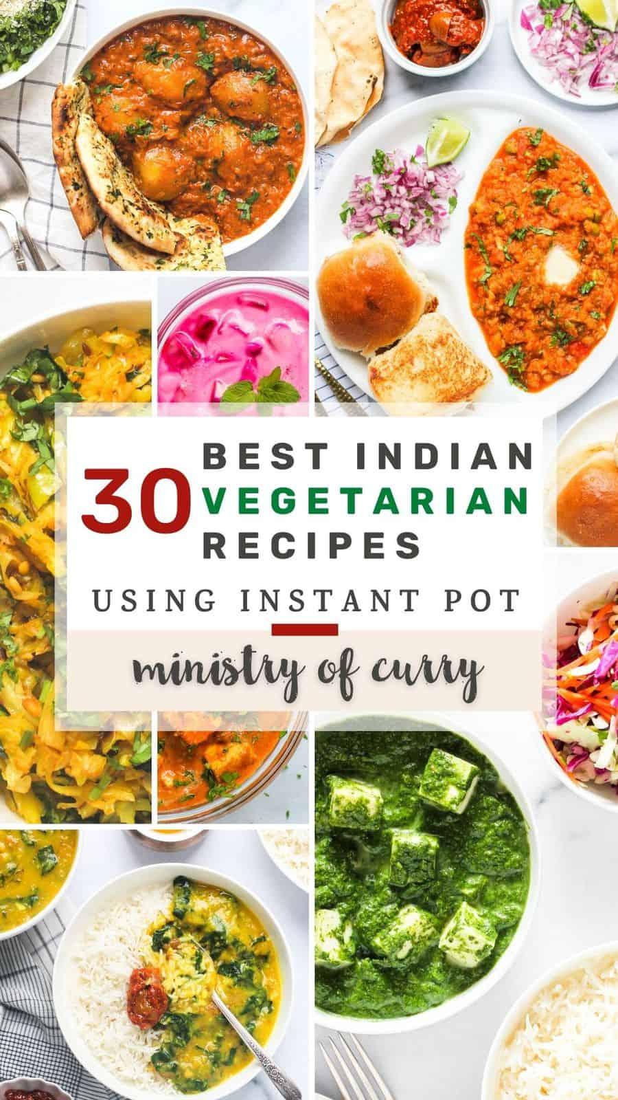 collage of Indian vegetarian recipe photos