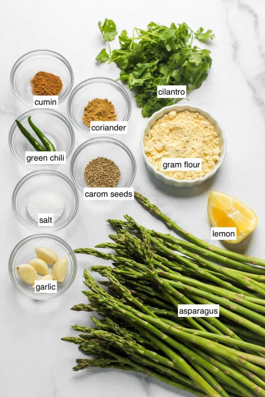ingredients for asparagus stir fry