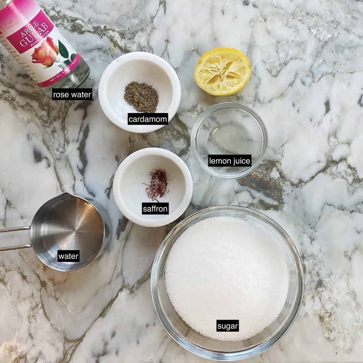 ingredients for sugar syrup